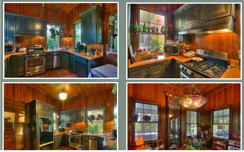 Living Room & Kitchen at 2502 Atlantic Ave, Sullivan's Island